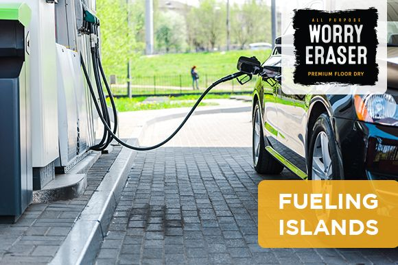 Fueling Island at Gas Station