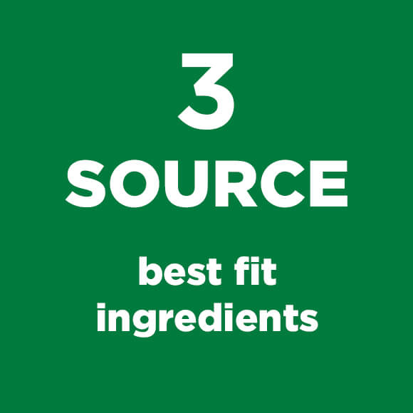 Green Square with Source Best Ingredients Text